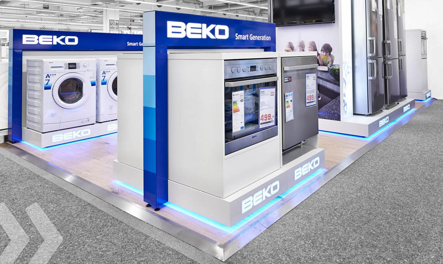 beko 02 shop in shop shop in shop systeme retail design