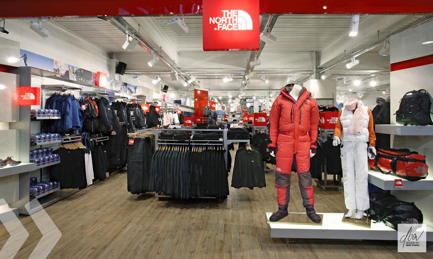 the north face 02 shop in shop präsentationssysteme shopfitting
