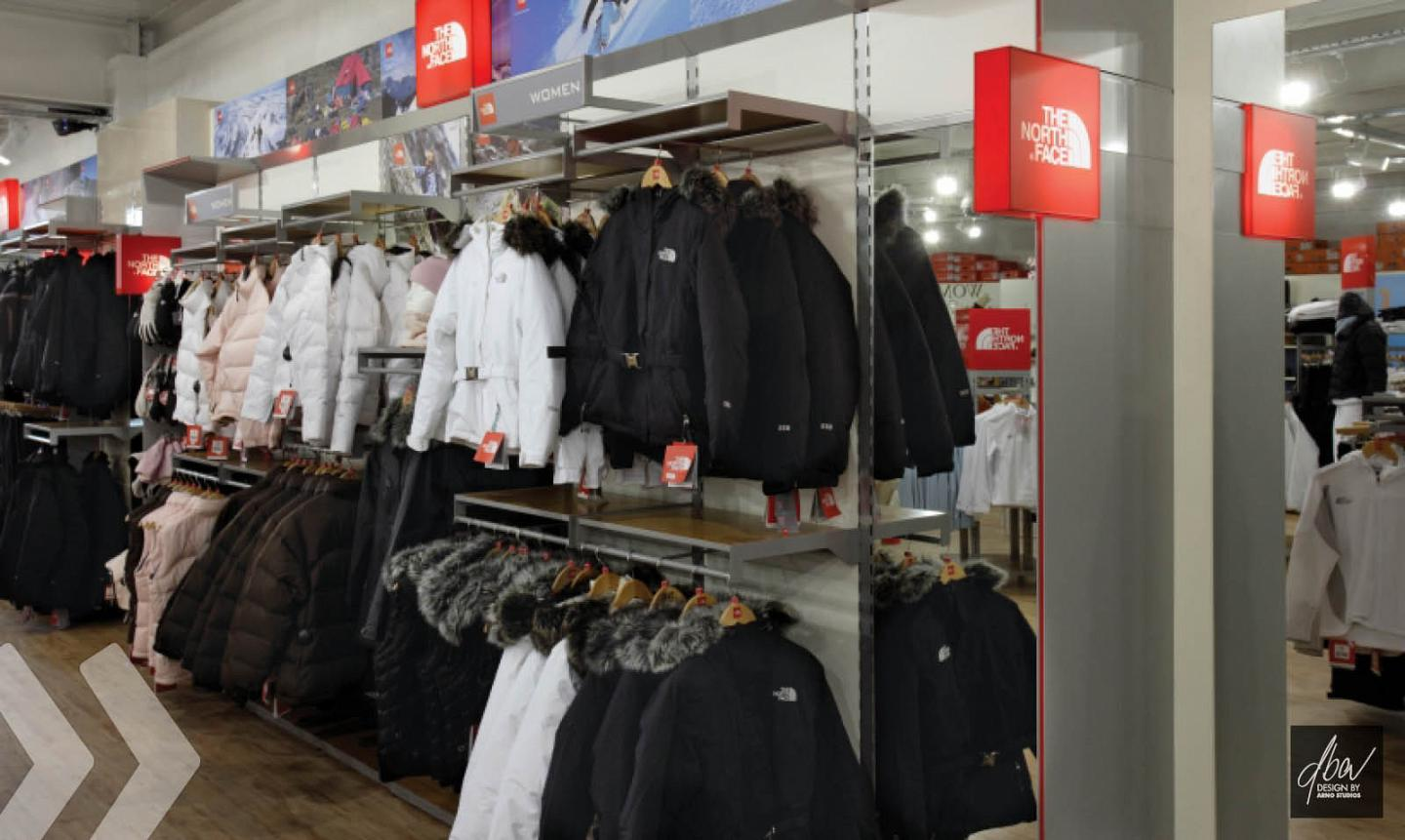 the north face 01 shop in shop präsentationssysteme shopfitting