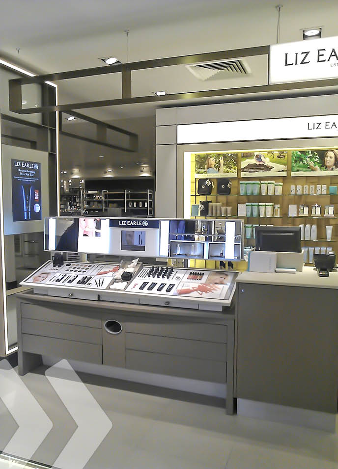 Liz Earle Make-up Shop in Shop 02 by ARNO Group