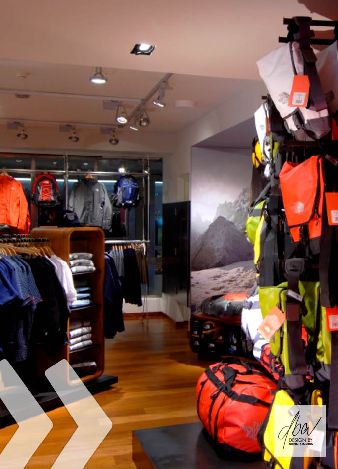 the north face 03 shop in shop präsentationssysteme shopfitting