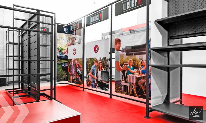 Weber shop in shop arno group for Design shop online