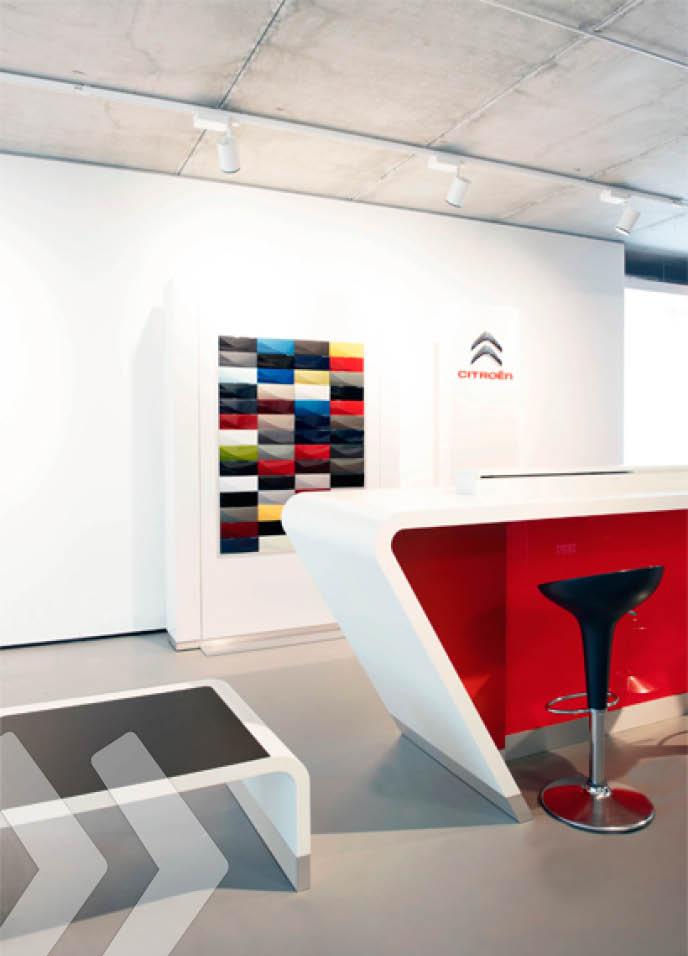 citroen store konstruktion arno group. Black Bedroom Furniture Sets. Home Design Ideas