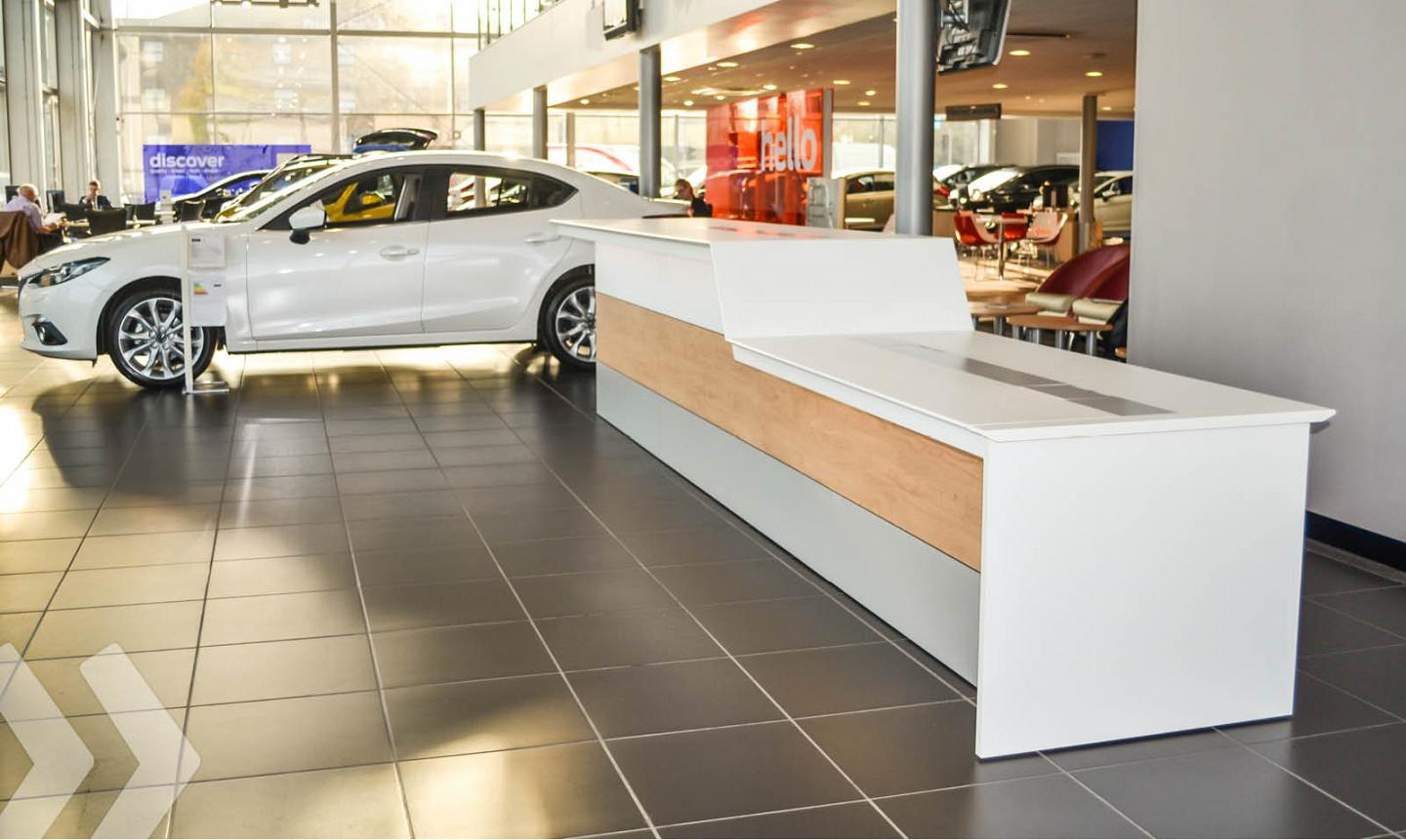 Store Counter im Autohaus