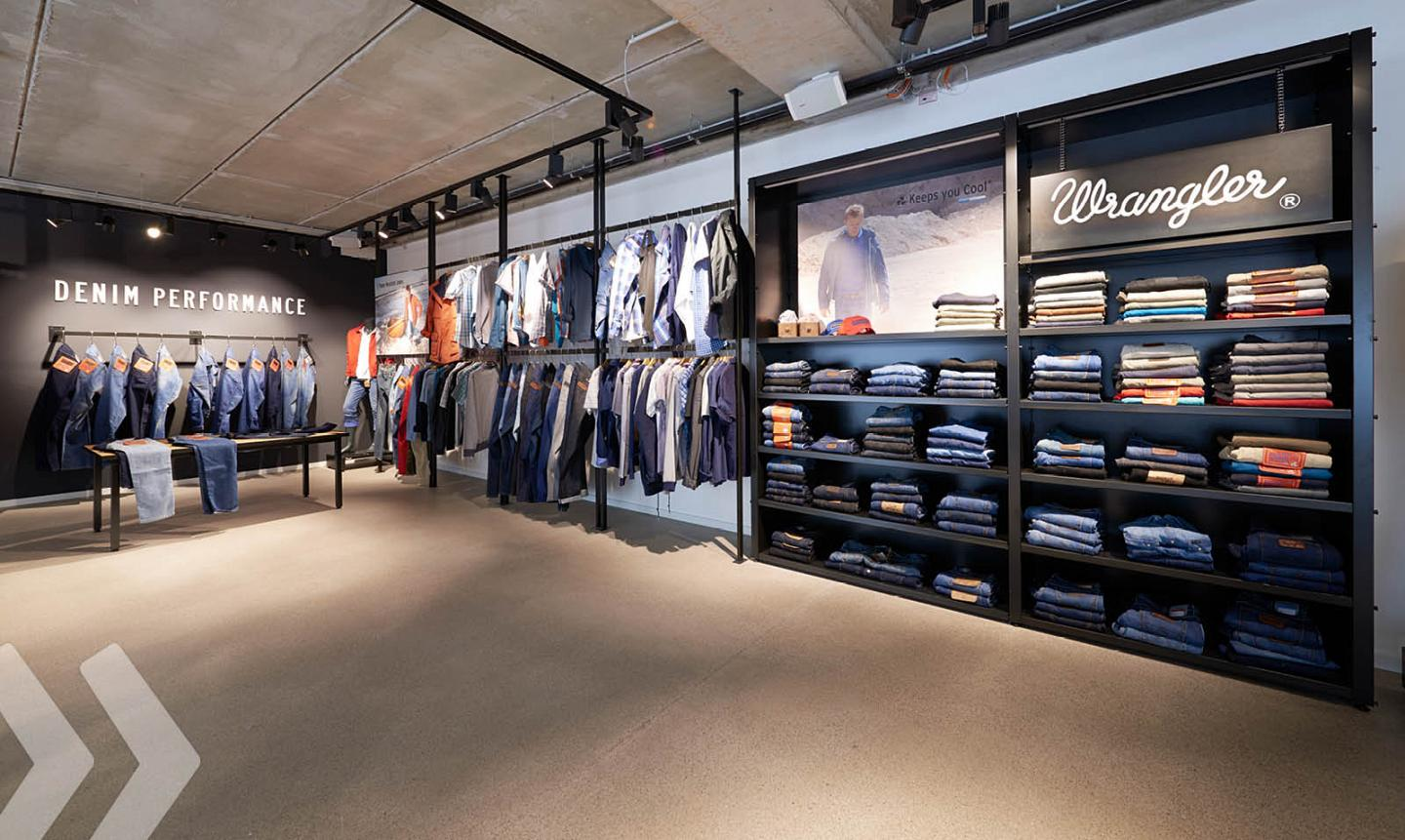 Wrangler Store Fashion Textil - Wall - Wand