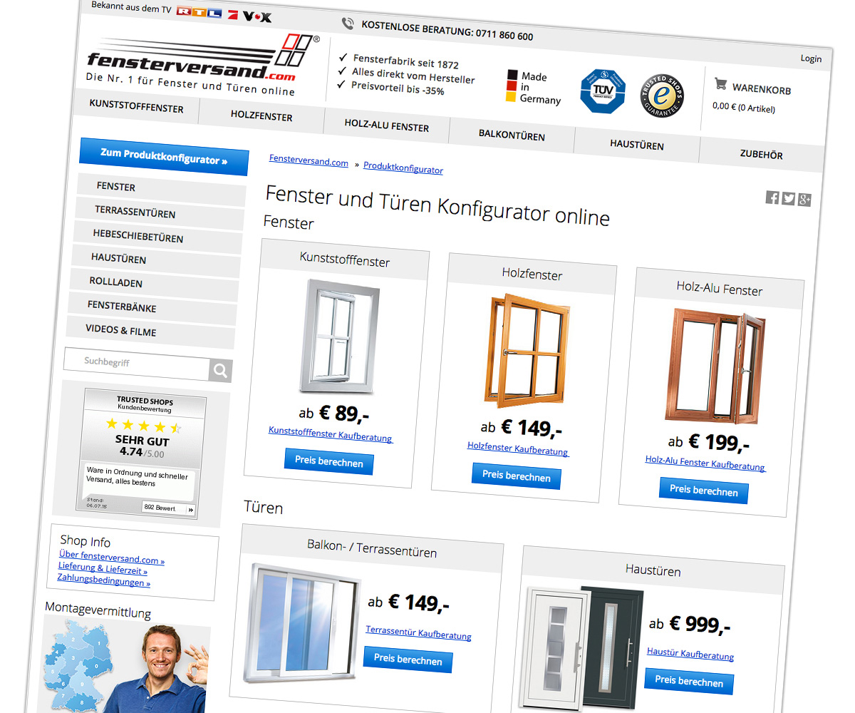 digital showroom for fenster.com