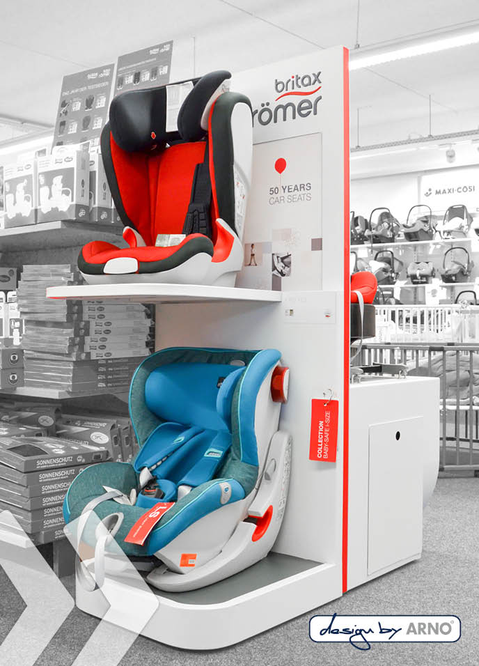 Britax Römer Display design by ARNO 02