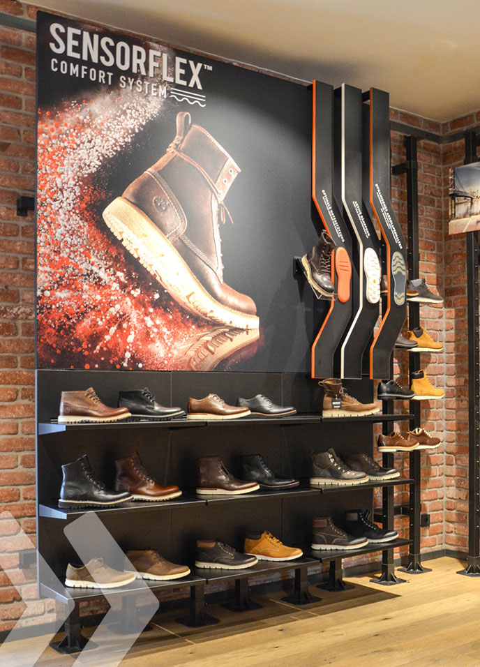 Marketing Display for Timberland Shoes