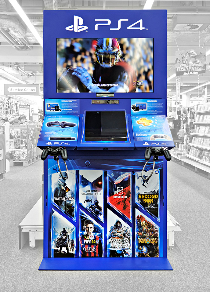 point of purchase manufacturer display sony