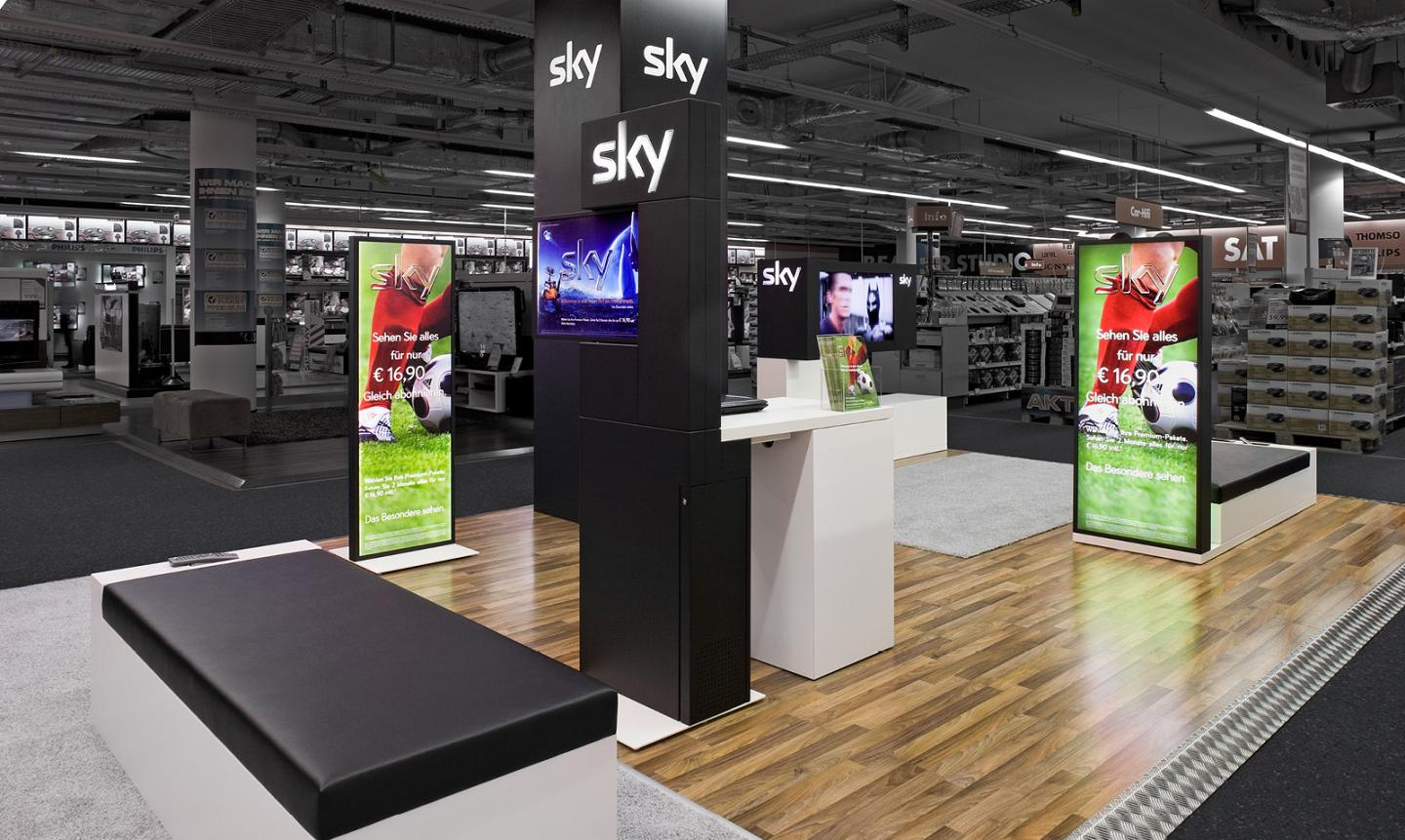 point of purchase manufacturer shop in shop sky